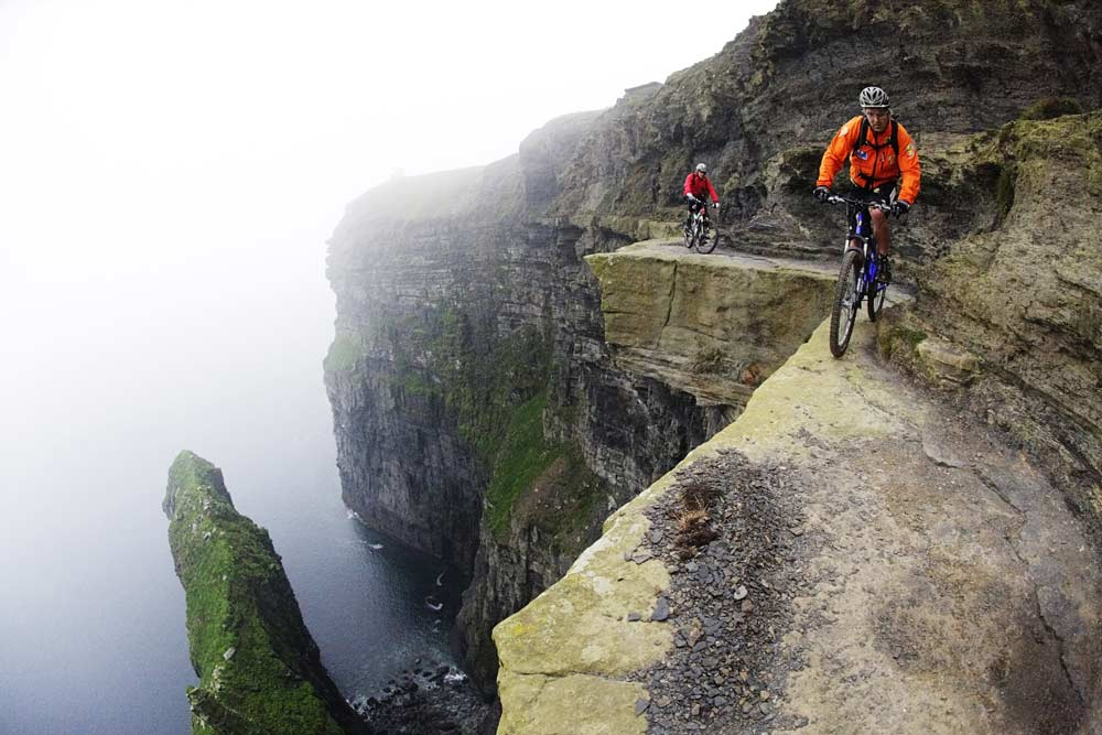 Riding on Cliffs of Moher.