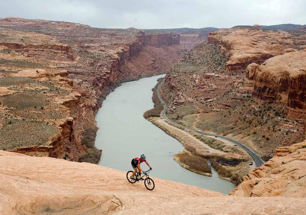 Bike trail in Moab, Utah.