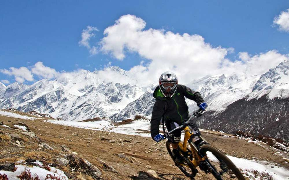 Riding in Nepal.