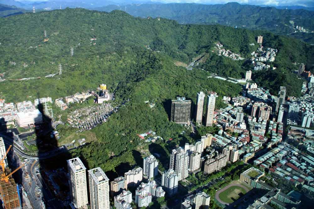 Bird's eye view of Taipei City.