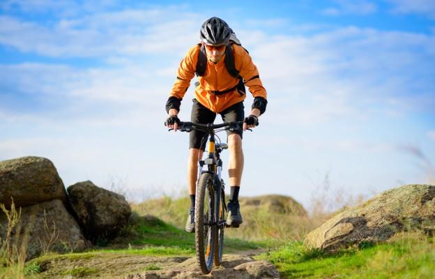 Biker on Mountain Bike Trail