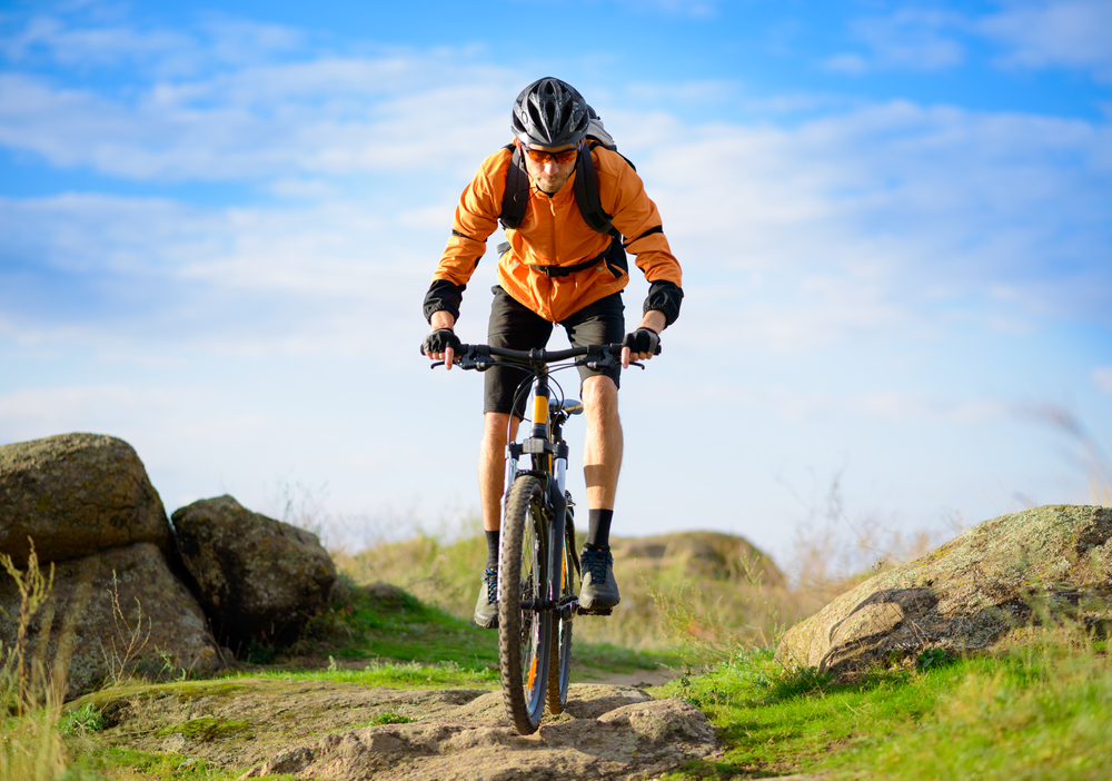 Biker on Mountain Bike Trail