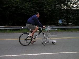 trolley shopping bike