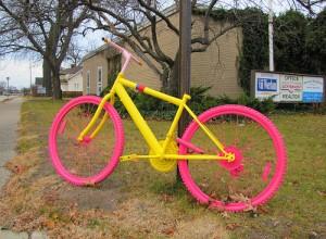 fabulous pink and yellow bike